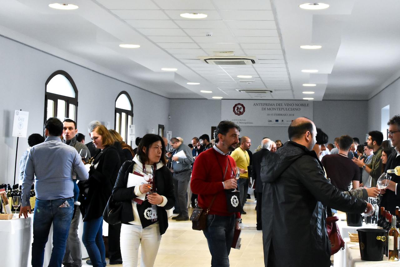 Pubblico all'Anteprima del Vino Nobile di Montepulciano edizione 2018