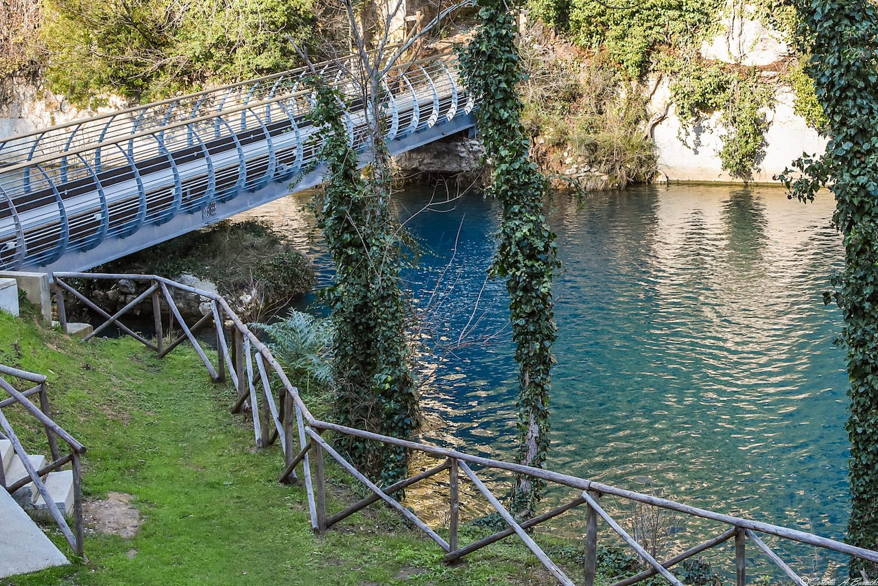Il Ponte Nuovo sul Nera nei pressi di Stifone