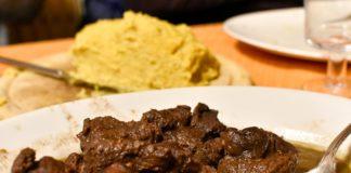 Spezzatino di Cervo e polenta al Rifugio Aquila Nera, Kamauz
