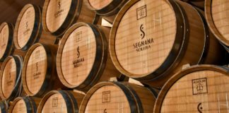 Botti d'invecchiamento della grappa metodo Solera, Distilleria Segnana, Trento