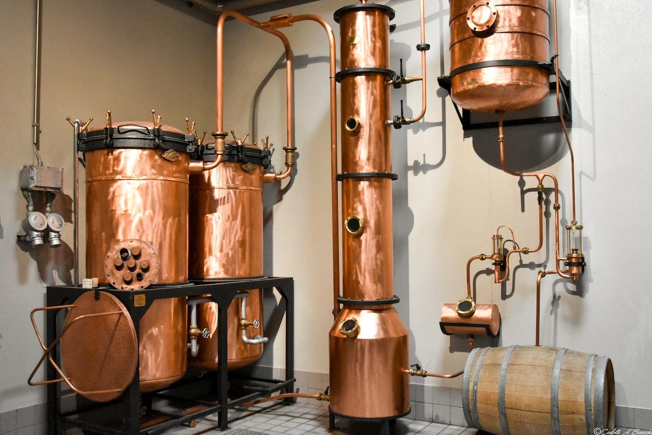 Sala degli alambicchi, Distilleria Segnana, Trento