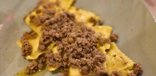 Tortelli di patate al ragù bianco di Chianina, Ristorante Tortello Divino, Arezzo