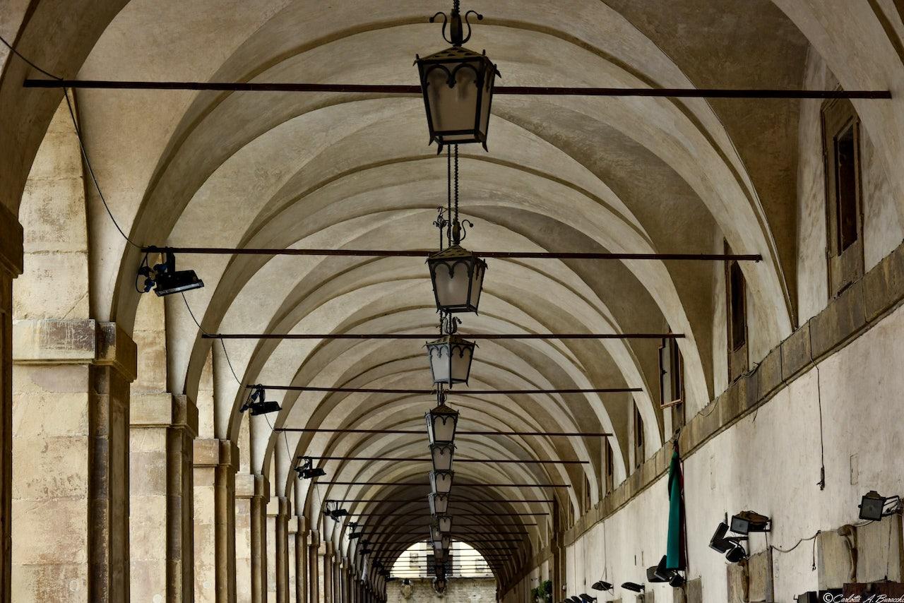 Le Logge Vasari in Piazza Grande ad Arezzo