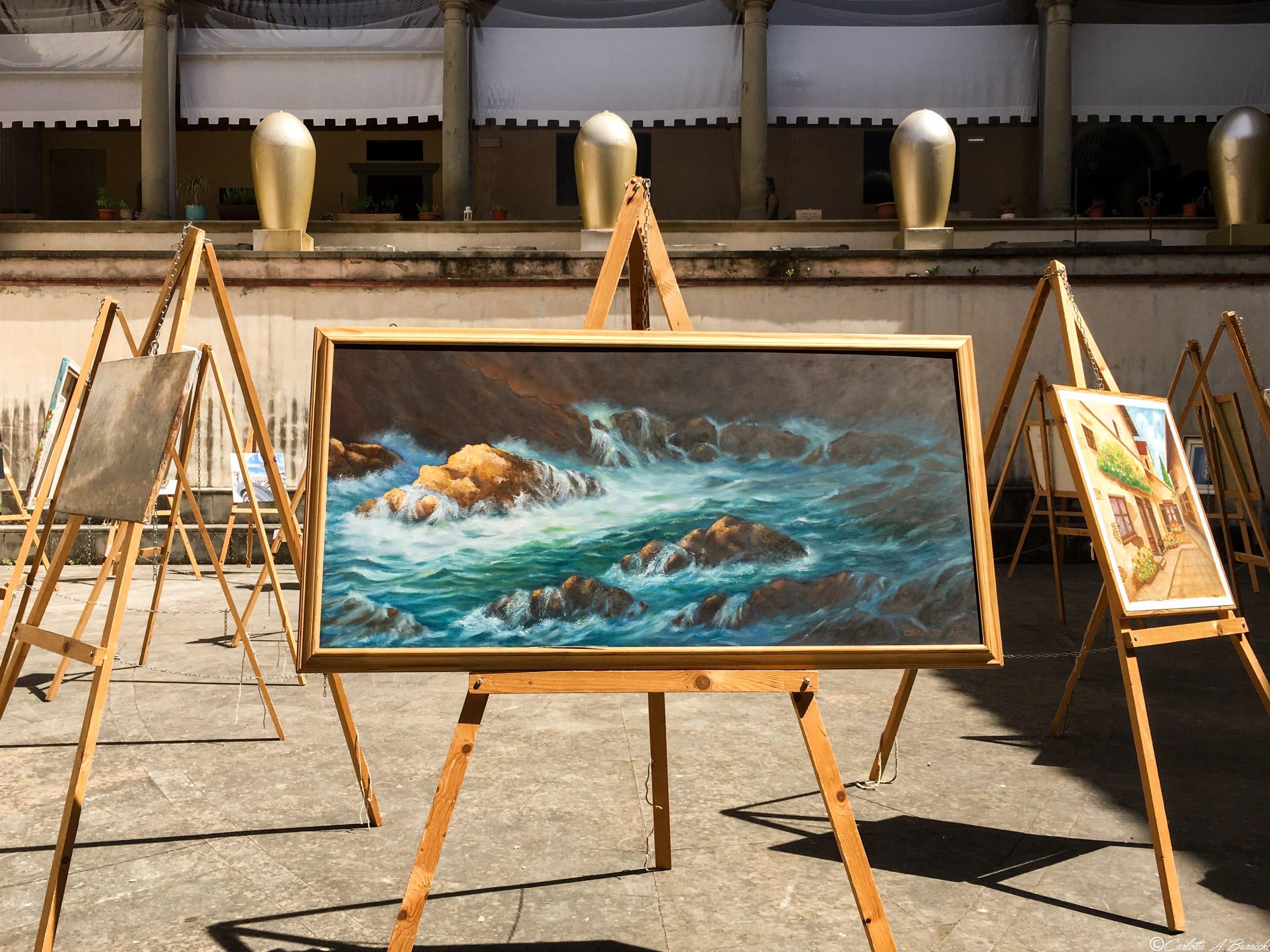 Opere del Cenacolo degli Artisti nel Chiostro del Teatro Pietro Aretino, Arezzo