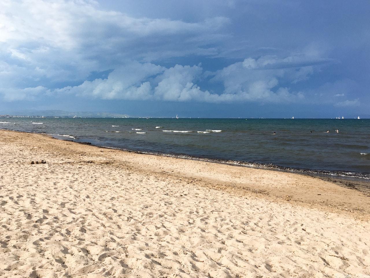 Hyères, plage de la Bergerie