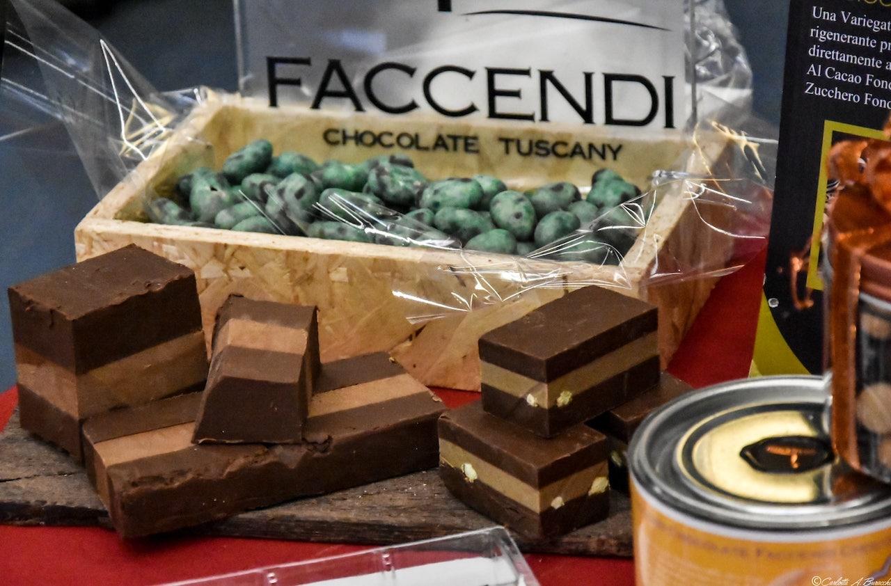 Cremini al cioccolato di Francesco Faccendi dall'area degustazione di Cibiamoci Festival 2018