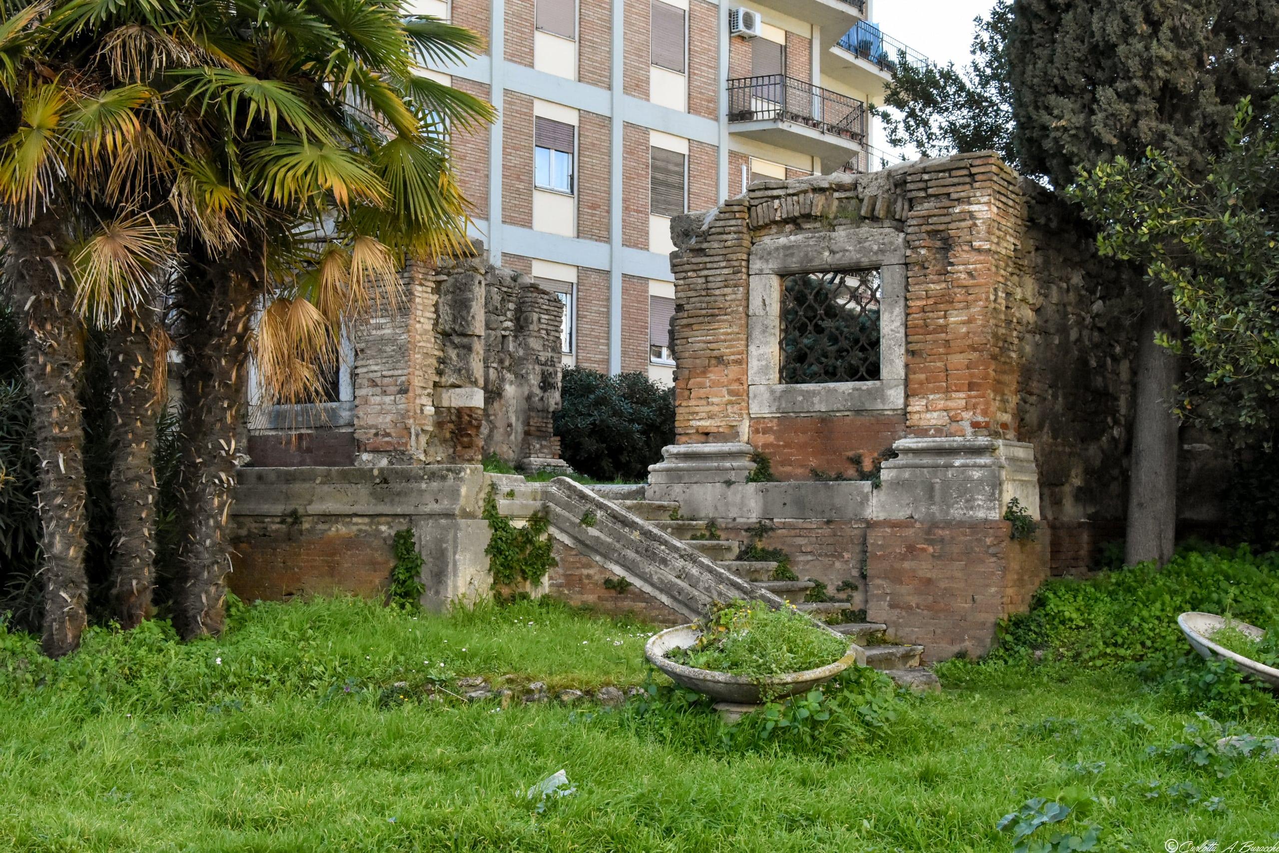 Le rovine della Chiesa di Sant'Andrea, distrutta dai bombardamenti che colpirono Terni durante la II Guerra mondiale