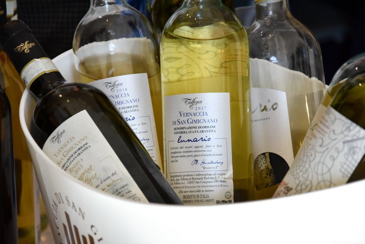 I vini proposti in assaggio da Tollena, Anteprima Vernaccia di San Gimignano 2019