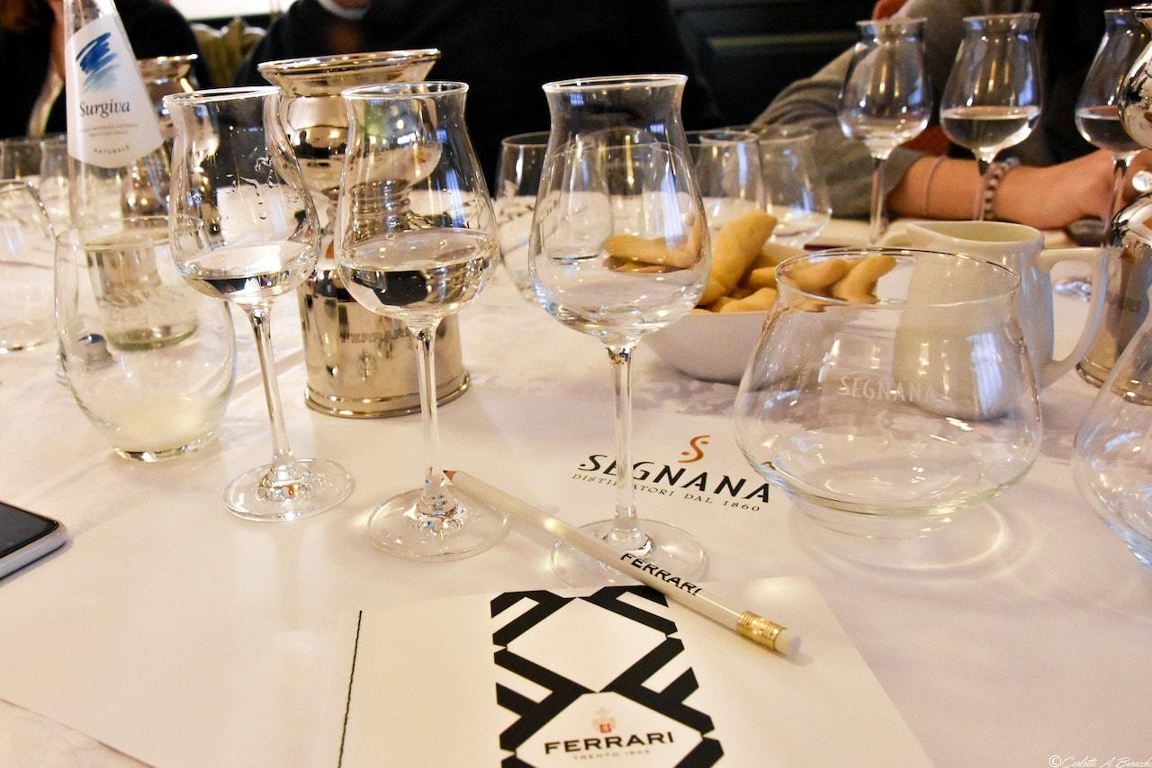 Degustazione Grappa di Traminer, distilleria Segnana, Trento