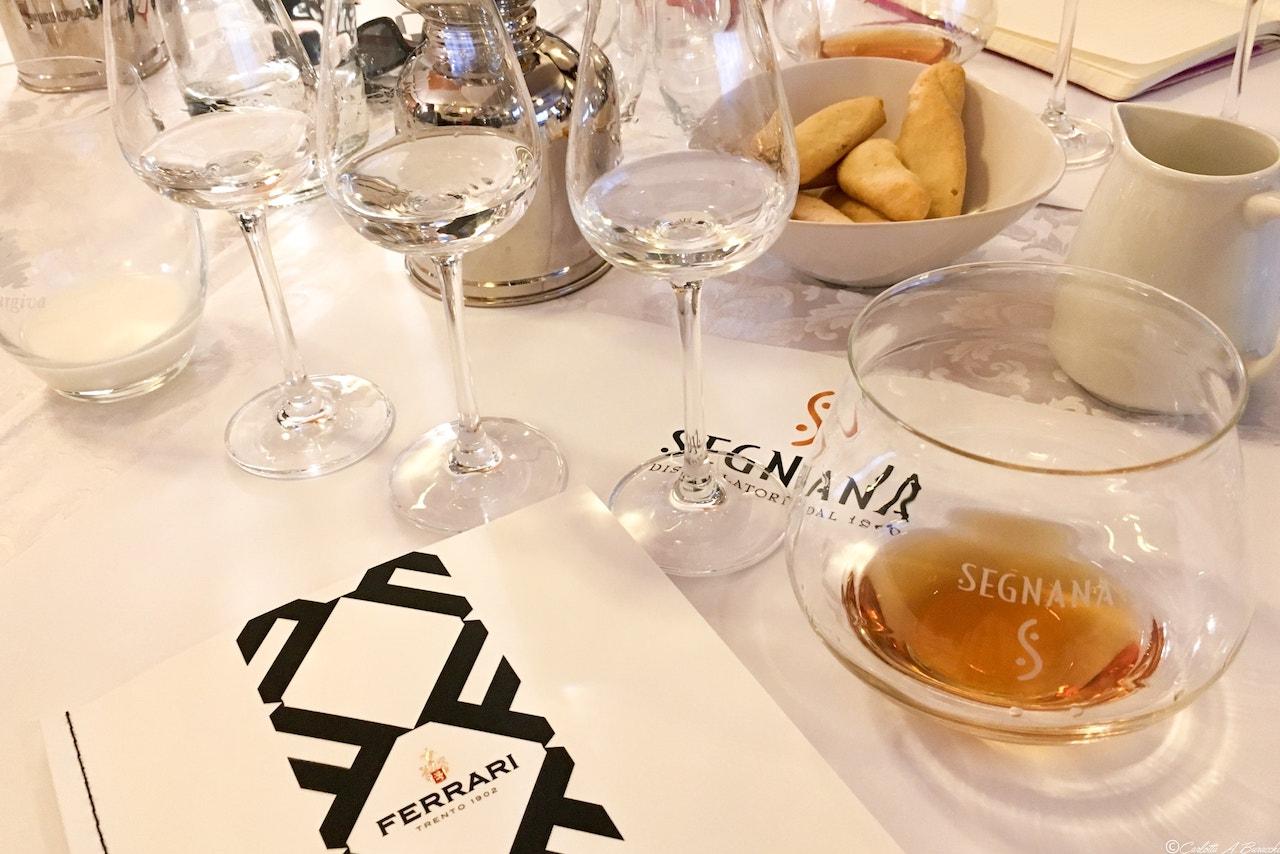 Degustazione grappa Estrema50, distilleria Segnana, Trento
