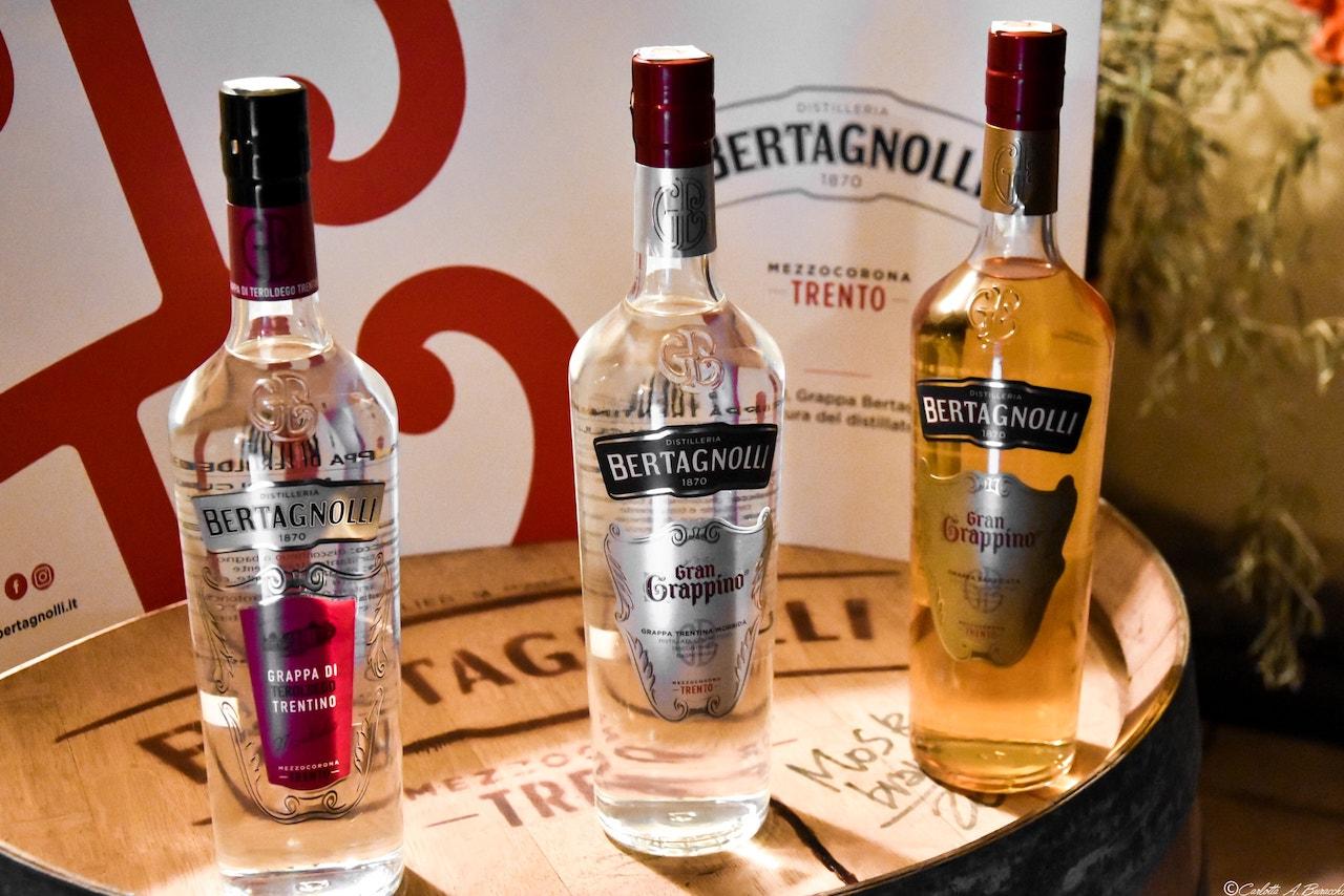 Grappe trentine prodotte dalla Distilleria Bertagnolli