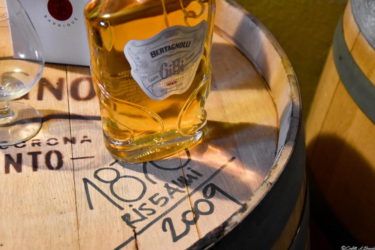 Grappa invecchiata in fusti di legno, Distilleria Bertagnolli