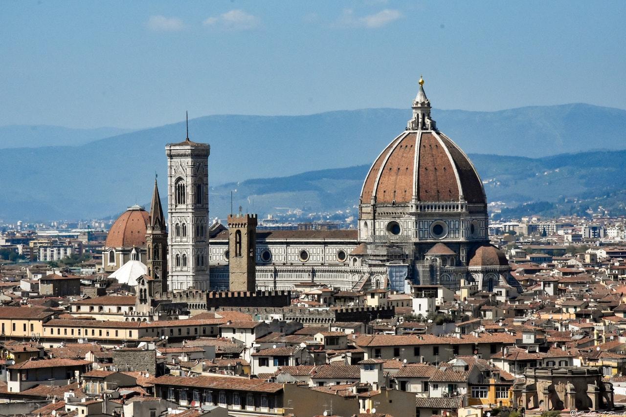 La Cattedrale di Santa Maria del Fiore vista da Piazzale Michelangelo, Firenze