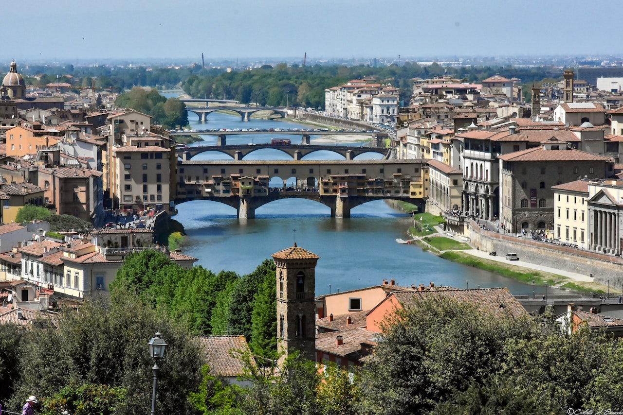 La vista dal Piazzale Michelangelo dove si è svolto il Gelato Festival 2018