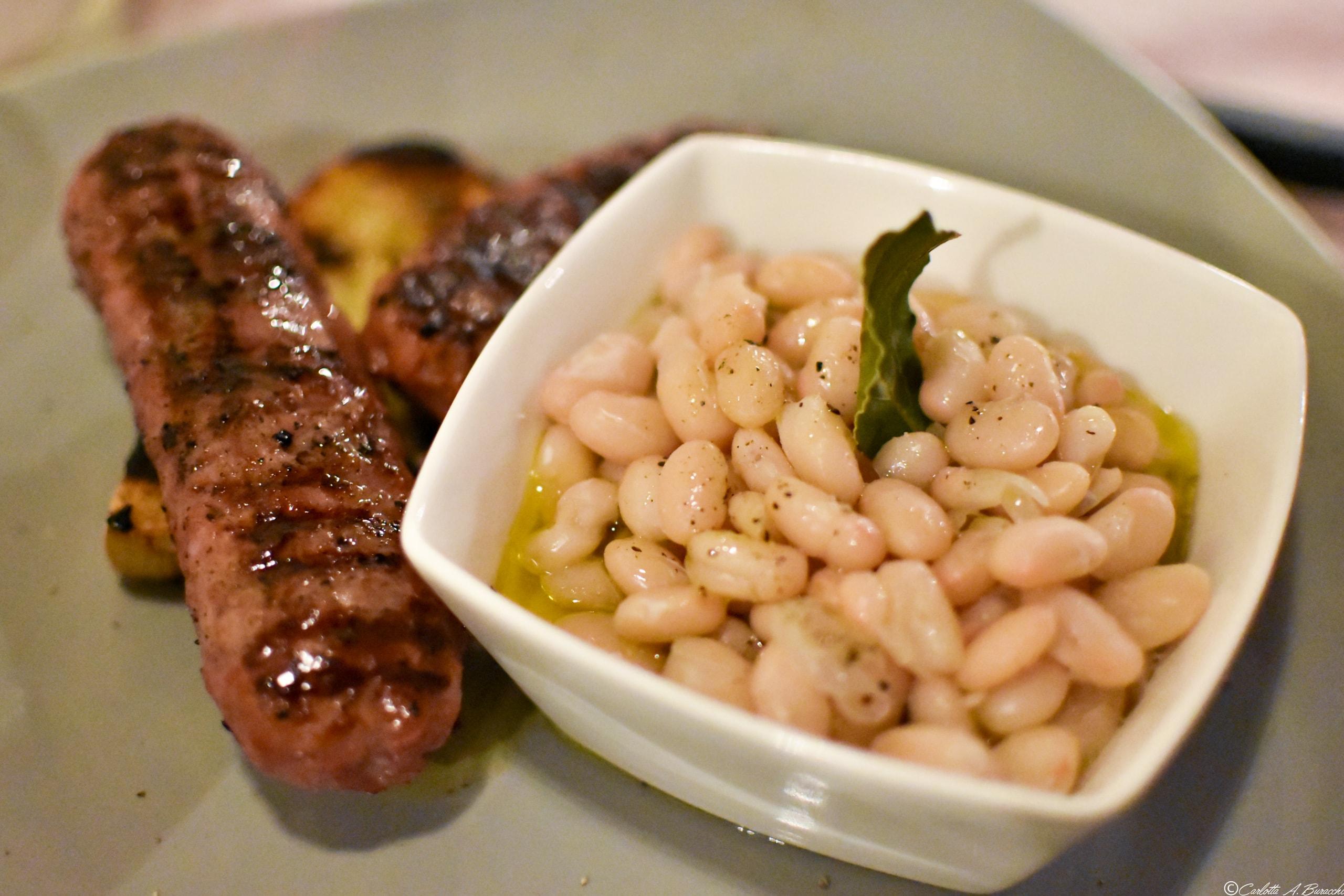 Salsicce e fagioli, Ristorante Tortello Divino, Arezzo