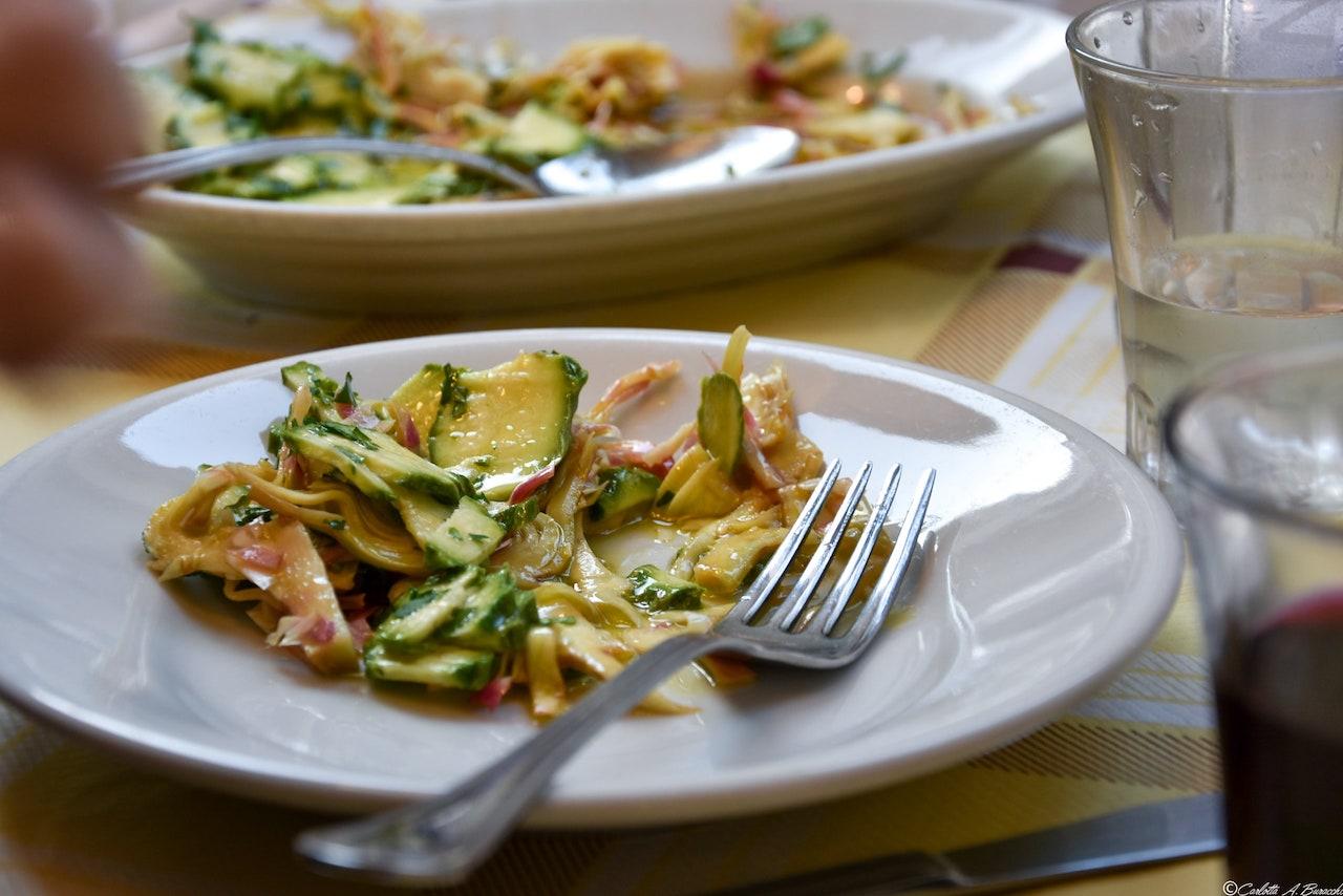 Un piatto di verdure, Enzo al 29, Trastevere, Roma