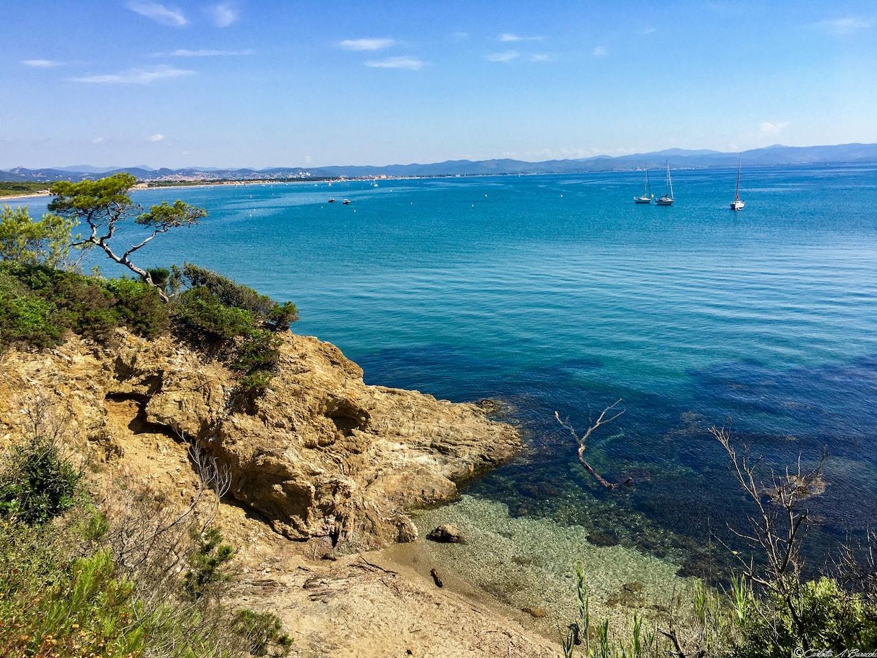 Presq'île de Giens, vista plage de La Capte, Bergerie