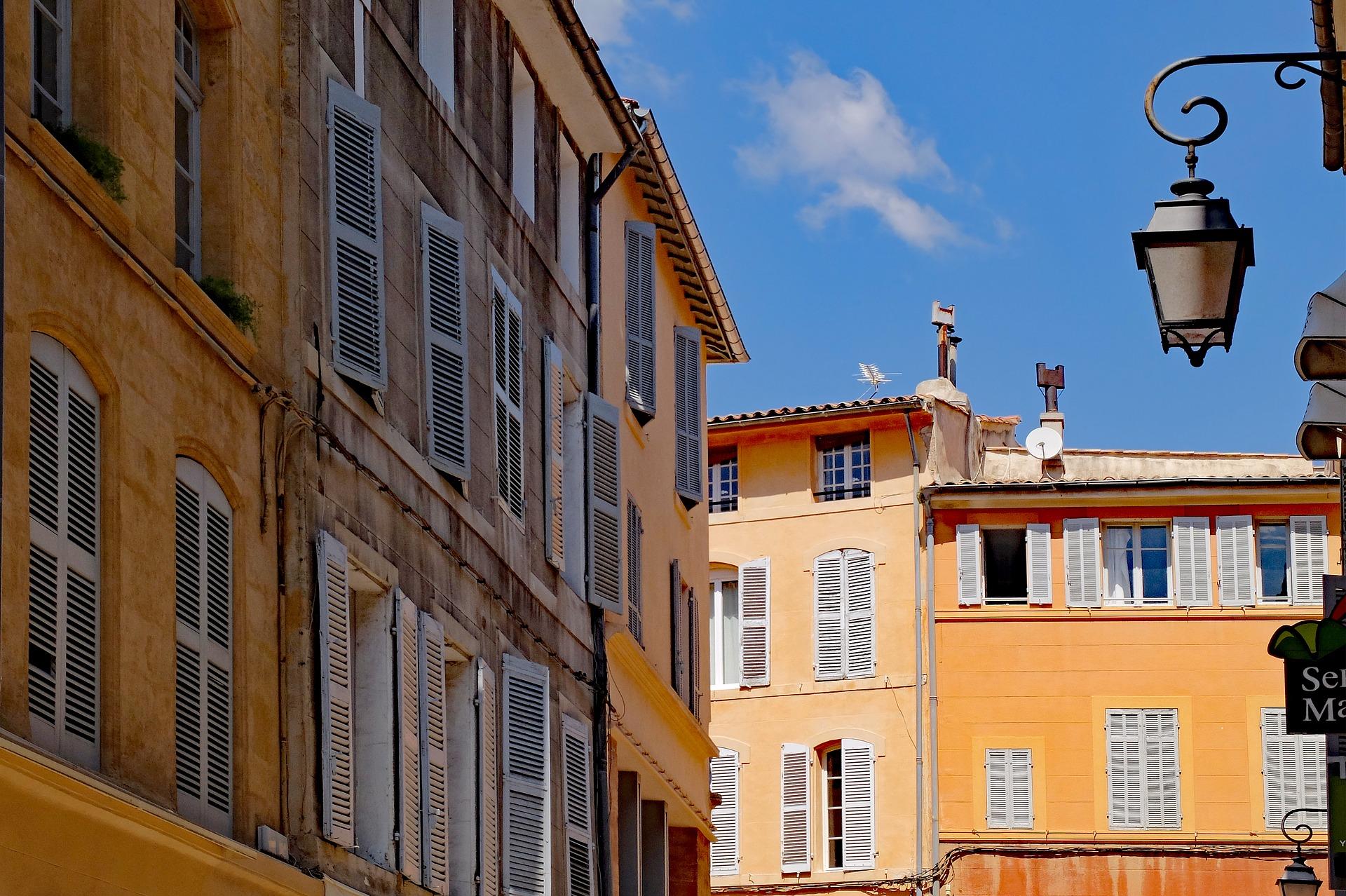 I colori caldi, caratteristici della città di Aix-en-Provence