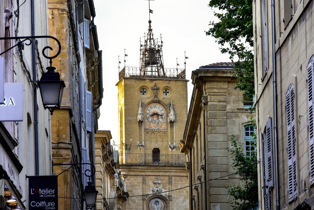 La Torre dell'Orologio in Place de l'Hôtel de Ville, Aix-en-Provence