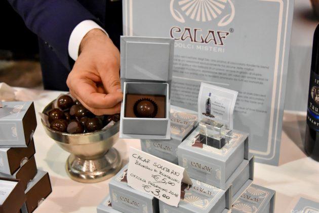 Le preziose creazioni di vino e cioccolato dell'azienda fiorentina Calaf all'edizione 2018 di Food&Wine in Progress