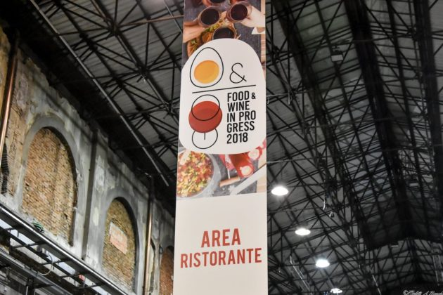 L'area ristorante curata dai cuochi di URC, Food&Wine in Progress 2018