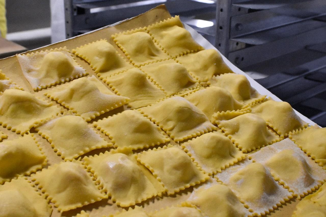 Festa di Santa Cristina Papiano, Tortelli di patate appena fatti
