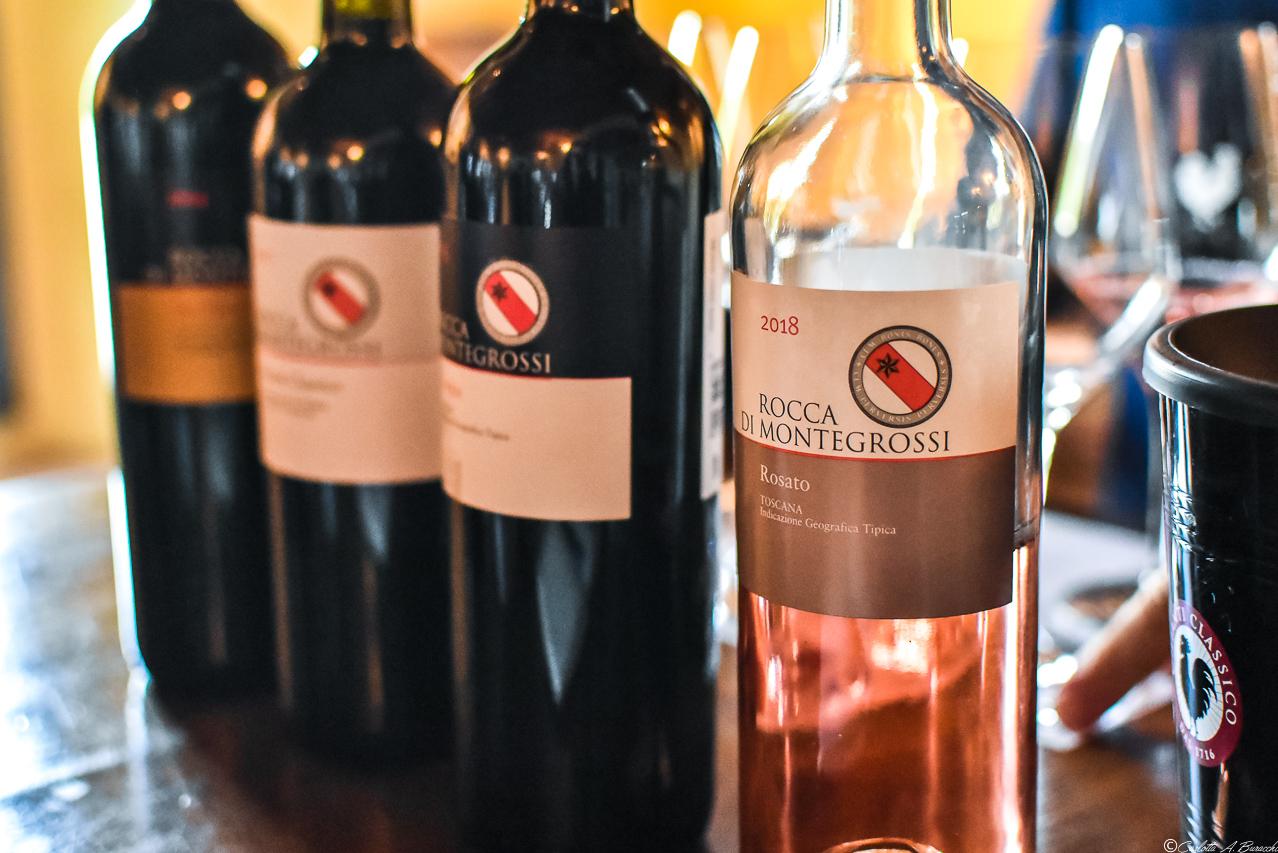 I vini dell'azienda Rocca di Montegrossi