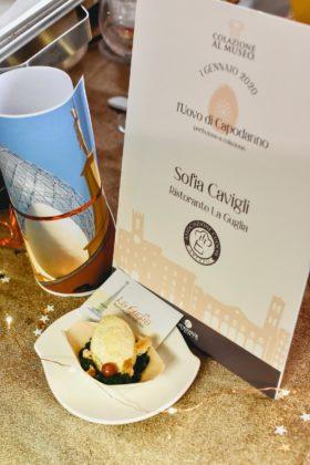 Colazione al Museo 2020, l'uovo di Sofia Cavigli del Ristorante La Guglia